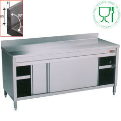 Table armoire inox AISI 304 profondeur 700mm