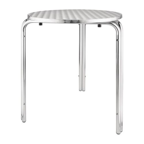 Table ronde en inox empilable 600mm