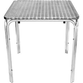 Table carrée en inox empilable 700x700mm
