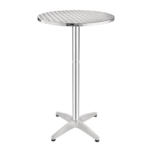"Table haute ""Mange-Debout"" en inox"
