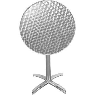 Table ronde en inox 600mm à plateau basculant