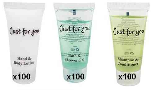 Just for you: 100 shampoing + 100 creme main +100 gel douche