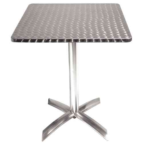 Table carrée en inox 600mm à plateau basculant