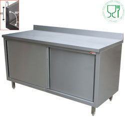 Table armoire inox aisi 304 441 profondeur 700mm harik for Table armoire inox