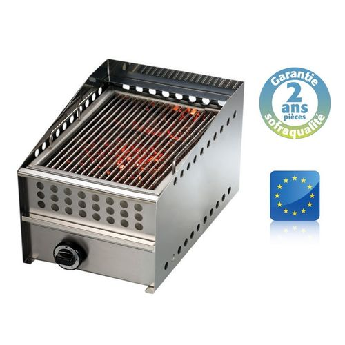 Grill pierre de lave gaz Wood steak grill - L 400 mm SOFRACA 14076A