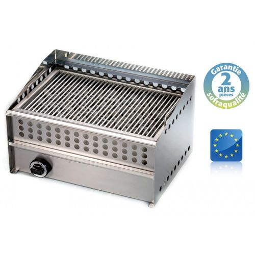 Grill pierre de lave gaz Wood steak grill - L 550 mm SOFRACA 14096A