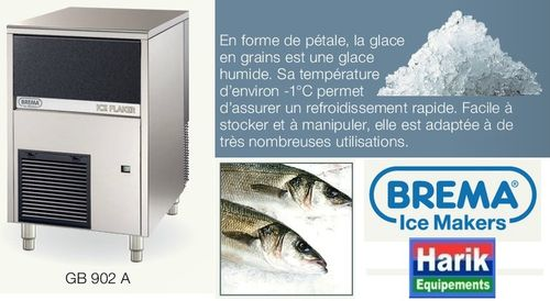 "Machine à glace en grains type ""pétales"" 20Kg de réseve GB 902 A"