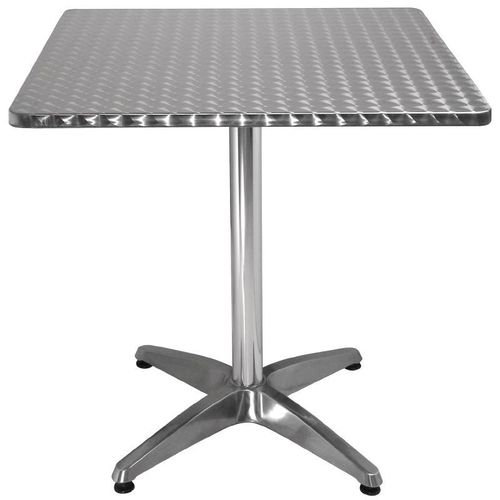 Table carrée en inox 700x700mm