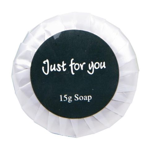 "100 Savon en sachet pour hotel, 15g ""just for you"""